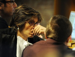 Sollecito's attorney - Giulia Bongiorno - is virtually a celebrity in her own right as a star defence lawyer