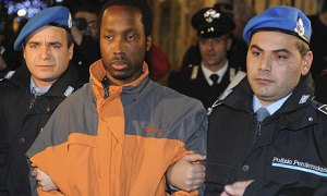 Ivorian Rudy Guede has been left as the only convicted person in this case, with his reduced sentence already half spent