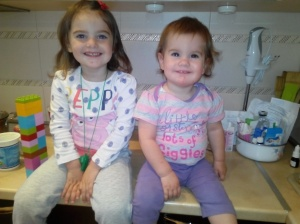 Sophia (left) and Darya, her partner in crime. So what if I'm biased - could anyone not miss these two grinning girls?