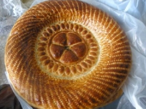 Even the bread has a stamp on it in Russia - this Uzbek number is a more attractive example
